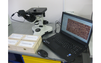 Микроскоп металлографический 4ХВ для визуального наблюдения микроструктур материалов в отраженном свете